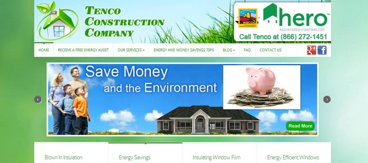 Tenco Construction Company's Website