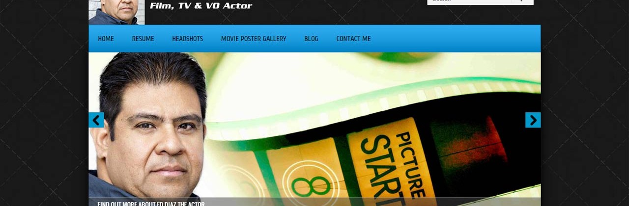 Website Design for Actors: Ed Diaz – Film, Television and Voice Over
