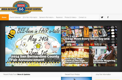 Event Venue Website Design: High Desert Event Center
