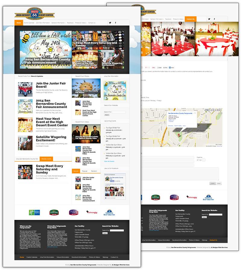 High Desert Event Center Venue Website Design Development