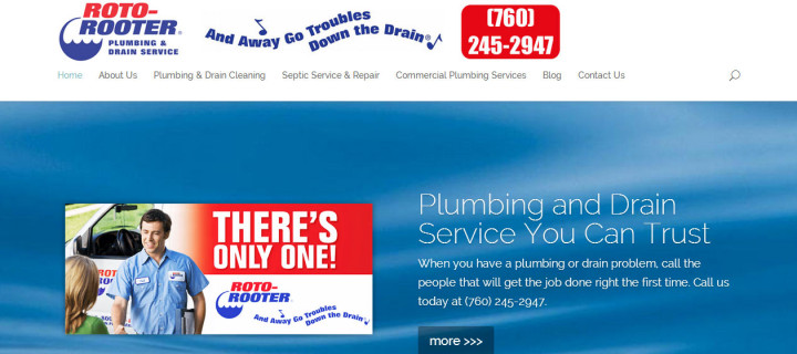 Roto-Rooter High Desert Plumbing & Drain Service Website Redesign