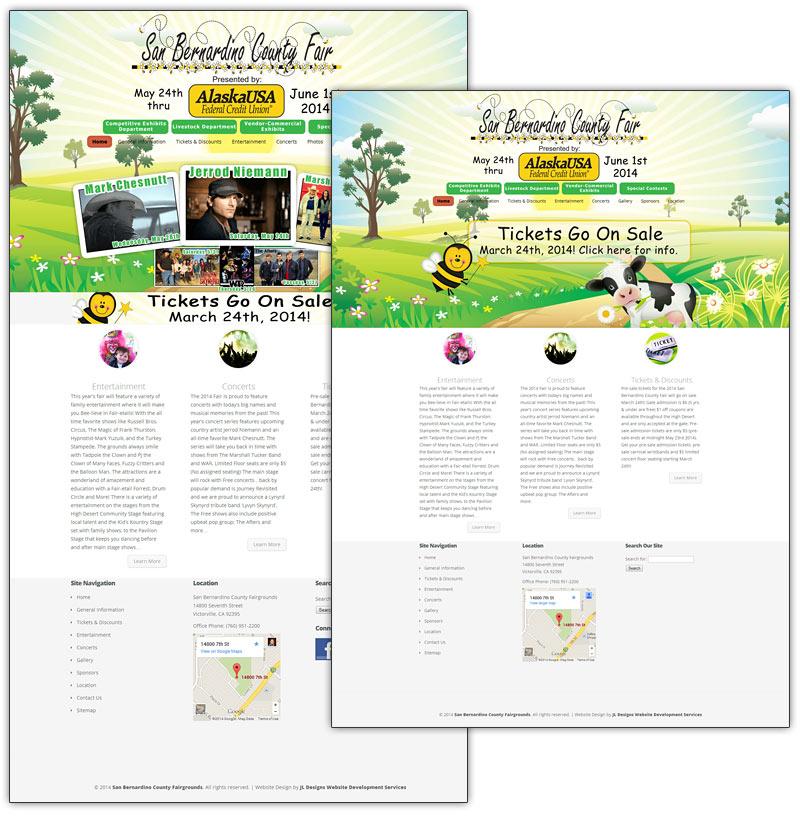 SBC San Bernardino County Fair 2014 Website Design