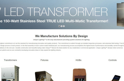 Unique Lighting Systems Website Refresh
