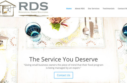 Residential Dining Solutions Food Service Website Refresh