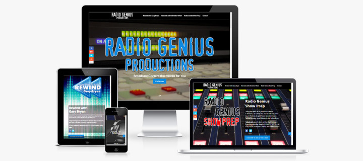 Responsive, Mobile-Friendly Website for Radio Genius Show Prep Service