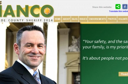 Bianco For Sheriff 2014 Political Campaign Website