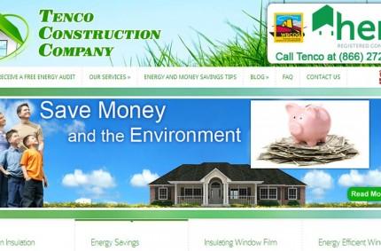 Tenco Construction Company's Website
