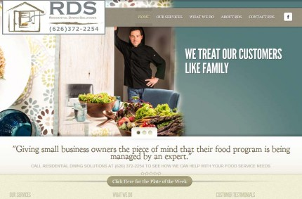 Residential Dining Solutions Food Service Website