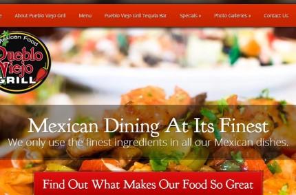 Website Redesign Project: Pueblo Viejo Grill Mexican Food Restaurant