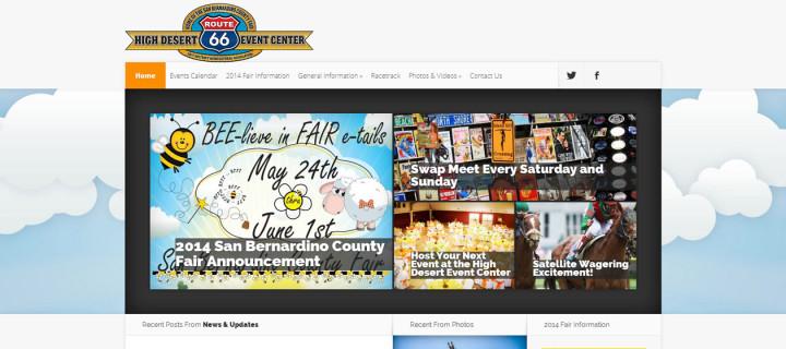 Event Venue Website Design: High Desert Event Center