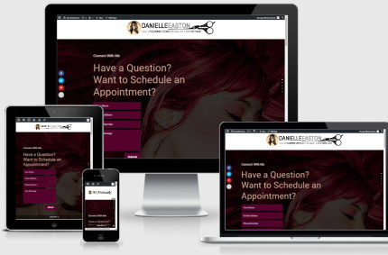 Lead Generating One Page Site for Hair Stylist Danielle Easton