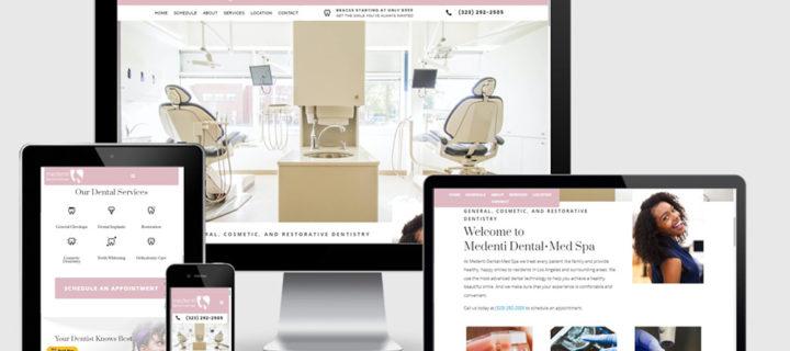 Beautiful Website Layout for Medenti Dental Med Spa